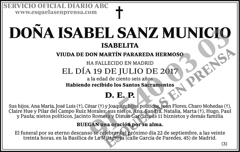 Isabel Sanz Municio
